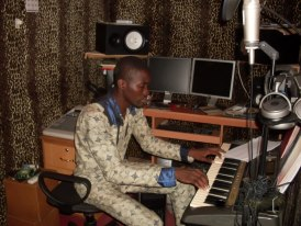 m fidel in my studio